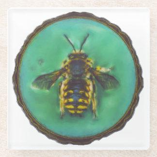 ウールのCarderの蜂 ガラスコースター