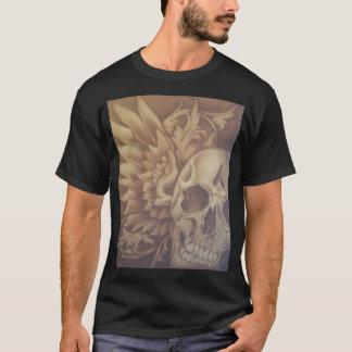 エアブラシで描かれたスカル Tシャツ