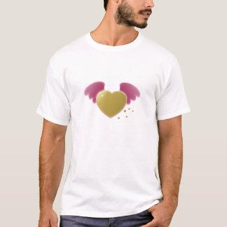 エアブラシで描かれたハートの翼 Tシャツ