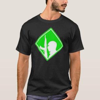エアブラシの記号緑の対テロ戦争 Tシャツ
