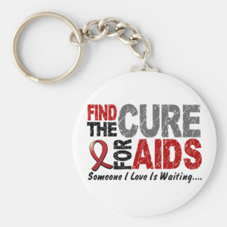 エイズ/HIVは治療1を見つけます キーホルダー