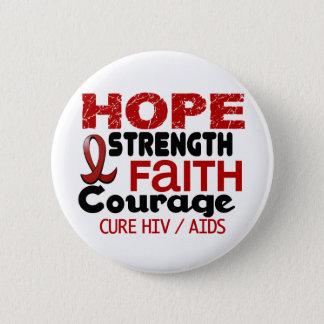 エイズHIVの希望3 5.7CM 丸型バッジ
