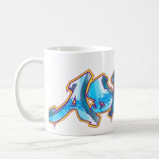 エイドリアンの落書きの名前- コーヒーマグカップ