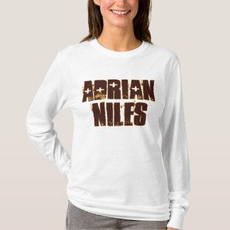 エイドリアンNilesの女性のNano長袖のTシャツ Tシャツ