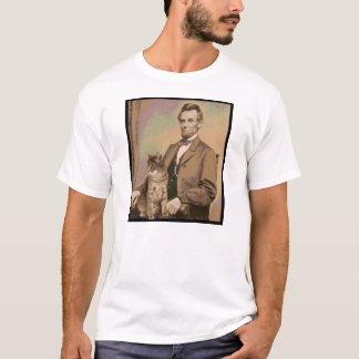 """エイブラハム・リンカーンおよび彼の猫""""Dixie """" Tシャツ"""