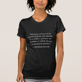 エイブラハム・リンカーンからの引用文 Tシャツ