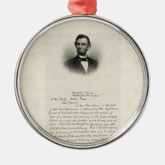エイブラハム・リンカーンからの手紙 メタルオーナメント