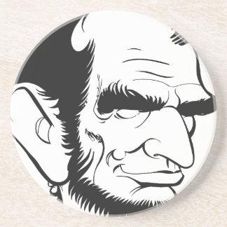 エイブラハム・リンカーンのおもしろいな風刺漫画 コースター