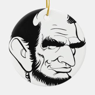 エイブラハム・リンカーンのおもしろいな風刺漫画 セラミックオーナメント