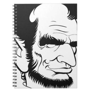 エイブラハム・リンカーンのおもしろいな風刺漫画 ノートブック