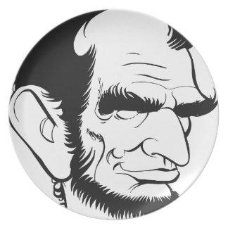 エイブラハム・リンカーンのおもしろいな風刺漫画 プレート