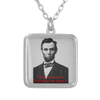 エイブラハム・リンカーンのアメリカのプライド シルバープレートネックレス