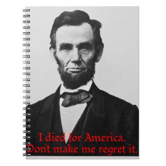 エイブラハム・リンカーンのアメリカのプライド ノートブック