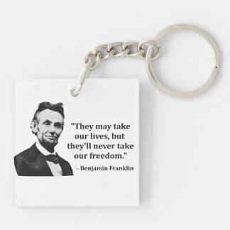 エイブラハム・リンカーンのトロールの引用文 キーホルダー