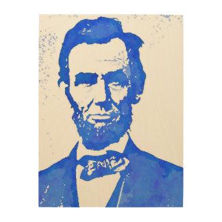 エイブラハム・リンカーンのポップアートのポートレート ウッドウォールアート