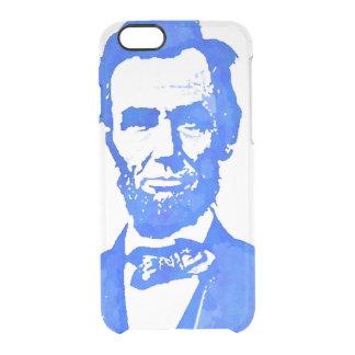 エイブラハム・リンカーンのポップアートのポートレート クリアiPhone 6/6Sケース