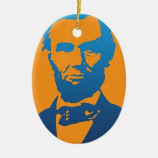 エイブラハム・リンカーンのポップアート セラミックオーナメント