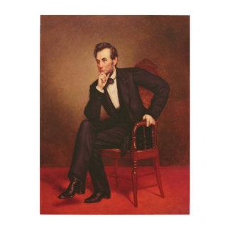 エイブラハム・リンカーンのポートレート ウッドウォールアート