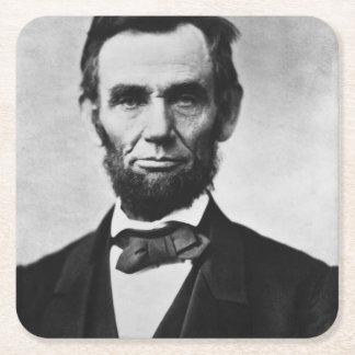エイブラハム・リンカーンのポートレート スクエアペーパーコースター
