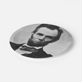 エイブラハム・リンカーンのポートレート ペーパープレート