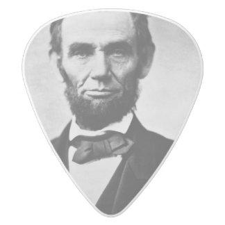 エイブラハム・リンカーンのポートレート ホワイトデルリン ギターピック