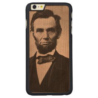 エイブラハム・リンカーンのポートレート CarvedチェリーiPhone 6 PLUSスリムケース