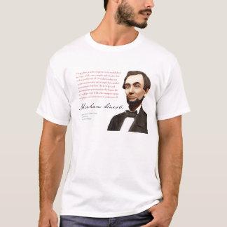 """エイブラハム・リンカーンのワイシャツ#16 """"公正なフリーマーケット"""" Tシャツ"""