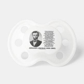 エイブラハム・リンカーンの人々のコンテスト連合競争の生命 おしゃぶり