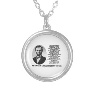 エイブラハム・リンカーンの人々のコンテスト連合競争の生命 シルバープレートネックレス