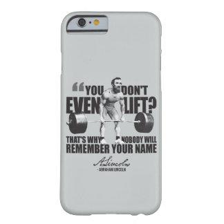 エイブラハム・リンカーンの体育館のユーモア-持ち上がりますか。 BARELY THERE iPhone 6 ケース