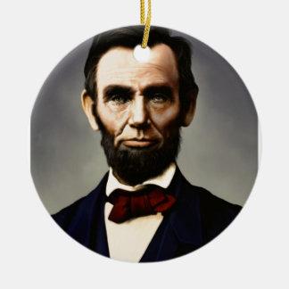 エイブラハム・リンカーンの元のヴィンテージのカラー写真 セラミックオーナメント