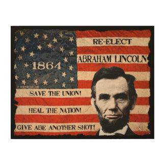 エイブラハム・リンカーンの再選 ウッドウォールアート