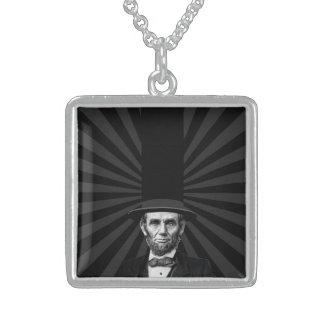 エイブラハム・リンカーンの大統領のなファッションの上での主張 スターリングシルバーネックレス
