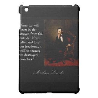 エイブラハム・リンカーンの引用文及びポートレート iPad MINIカバー