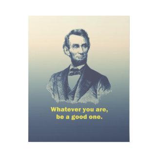 エイブラハム・リンカーンの引用文 ギャラリーラップ