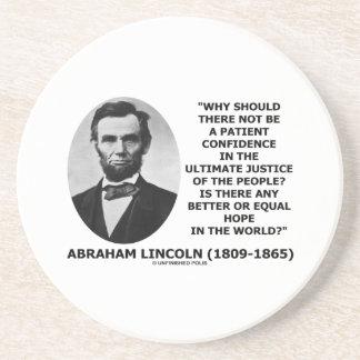 エイブラハム・リンカーンの忍耐強い自信の正義の引用文 コースター