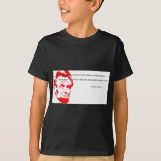 エイブラハム・リンカーンの感謝した引用文の赤 Tシャツ