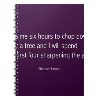 エイブラハム・リンカーンの有名な引用文-紫色 ノートブック