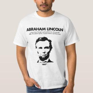 エイブラハム・リンカーンの白のTシャツ Tシャツ
