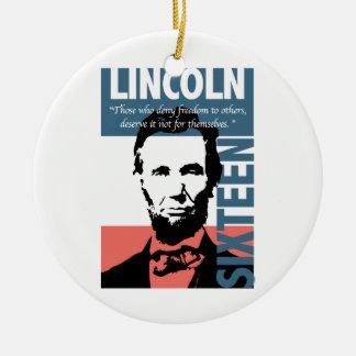 エイブラハム・リンカーンの第16大統領 セラミックオーナメント
