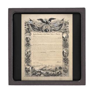 エイブラハム・リンカーンの解放の布告のギフト用の箱 ギフトボックス