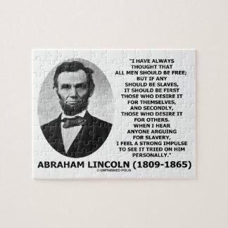 エイブラハム・リンカーンはすべての人自由な隷属べきです ジグソーパズル