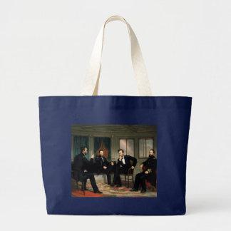 エイブラハム・リンカーンを持つ調印者 ラージトートバッグ