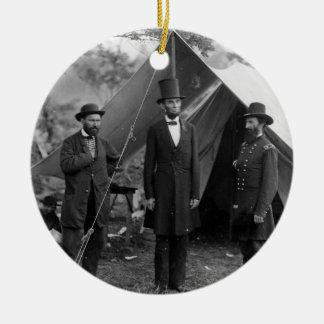 エイブラハム・リンカーンアランPinkertonジョンA. McClernand セラミックオーナメント