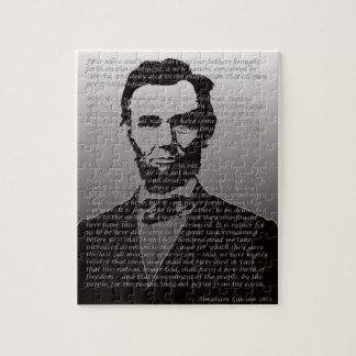 エイブラハム・リンカーン及びGettysburgの住所パズル ジグソーパズル