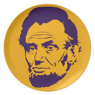 エイブラハム・リンカーン大統領のポップアートのメラミンプレート プレート