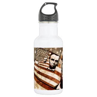 エイブラハム・リンカーン大統領の愛国心が強い旗 ウォーターボトル