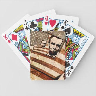 エイブラハム・リンカーン大統領の愛国心が強い旗 バイスクルトランプ