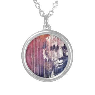 エイブラハム・リンカーン大統領の抽象芸術 シルバープレートネックレス