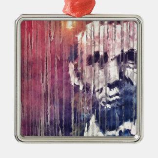 エイブラハム・リンカーン大統領の抽象芸術 メタルオーナメント